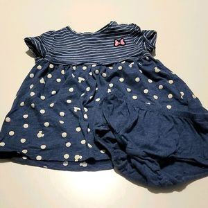 🎀Disney Minnie Mouse jersey dress w/ diaper cover